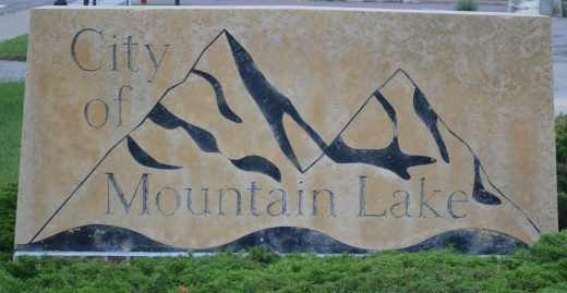 mountain lake city hall sign