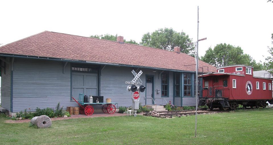 railroad depot and caboose